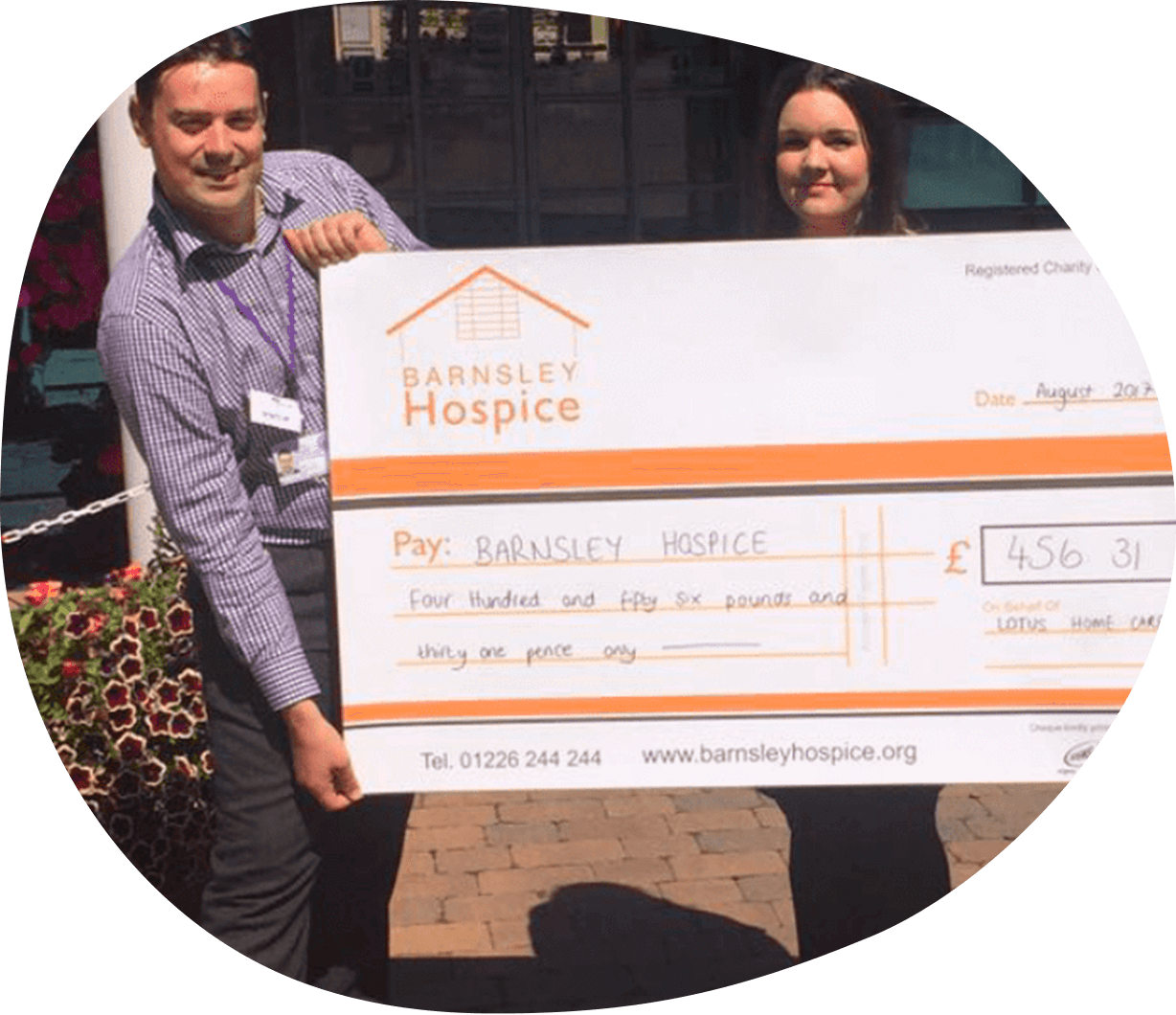 Lotus Home Care Raises Money For Barnsley Hospice