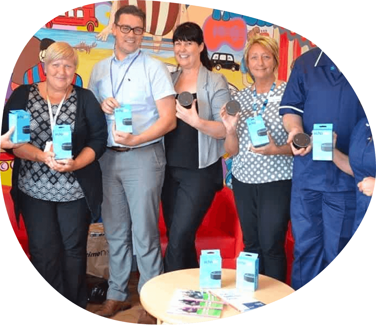 Nine Echo Dots Donated To The Mid Yorkshire Hospital